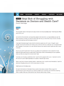 "Mile High Mamas article: ""Help! Sick of Struggling with Decisions on Doctors and Health Care?"""