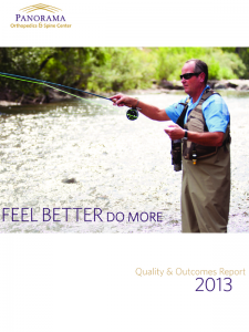 "Panorama Orthopedics & Spine Center: ""Quality & Outcomes Report 2013"""